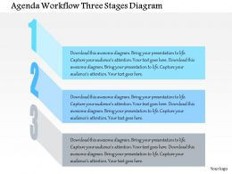 0914 Business Plan Agenda Workflow Three Stages Diagram Powerpoint Presentation Template