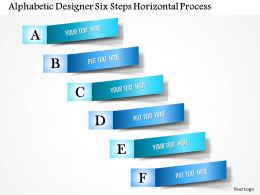 0914 Business Plan Alphabetic Designer Six Steps Horizontal Process Powerpoint Presentation Template