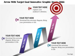 0914 Business Plan Arrow With Target Goal Innovative Graphic Image Slide Powerpoint Template