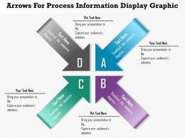 0914 Business Plan Arrows For Process Information Display Graphic Powerpoint Template
