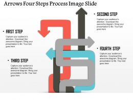 0914 Business Plan Arrows Four Steps Process Image Slide Powerpoint Presentation Template