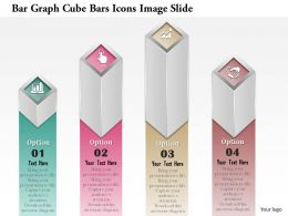 0914 Business Plan Bar Graph Cube Bars Icons Image Slide Powerpoint Presentation Template