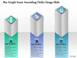 0914 Business Plan Bar Graph Icons Ascending Order Image Slide Powerpoint Template