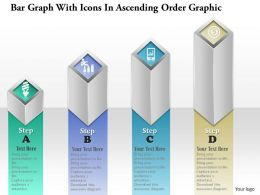 0914 Business Plan Bar Graph With Icons In Ascending Order Graphic Powerpoint Template