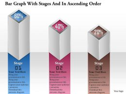 0914 Business Plan Bar Graph With Stages And In Ascending Order Powerpoint Template