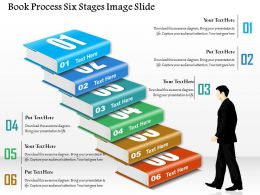 0914 Business Plan Book Process Six Stages Image Slide Powerpoint Presentation Template