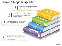 0914 Business Plan Books 4 Steps Image Slide Powerpoint Presentation Template