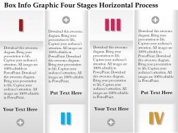 0914 Business Plan Box Info Graphic Four Stages Horizontal Process Image Powerpoint Template