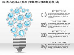 0914 Business Plan Bulb Shape Designed Business Icons Image Slide Powerpoint Template