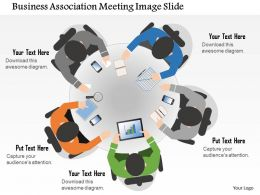 0914 Business Plan Business Association Meeting Image Slide Powerpoint Presentation Template