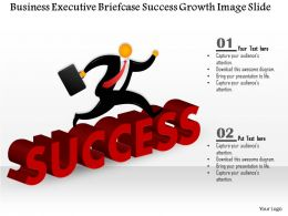 0914 Business Plan Business Executive Briefcase Success Growth Image Slide Powerpoint Template
