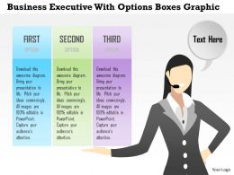 0914 Business Plan Business Executive With Options Boxes Graphic Powerpoint Template