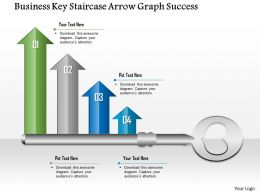0914 Business Plan Business Key Staircase Arrow Graph Success Powerpoint Presentation Template