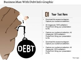 0914 Business Plan Business Man With Debt Info Graphic Powerpoint Presentation Template