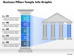 0914 Business Plan Business Pillars Temple Info Graphic Powerpoint Presentation Template