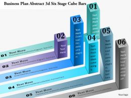 0914 Business Plan Business Plan Abstract 3d Six Stage Cube Bars Powerpoint Presentation Template