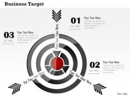 0914 Business Plan Business Target Arrows Strategy Image Slide Powerpoint Template