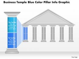 0914 Business Plan Business Temple Blue Color Pillar Info Graphic Powerpoint Presentation Template