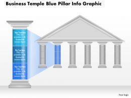 0914 Business Plan Business Temple Blue Pillar Info Graphic Powerpoint Presentation Template