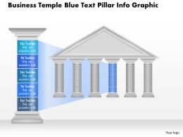 0914 Business Plan Business Temple Blue Text Pillar Info Graphic Powerpoint Presentation Template
