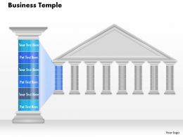 0914 Business Plan Business Temple Graphic With Pillar For Text Powerpoint Presentation Template