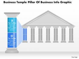 0914 Business Plan Business Temple Pillar Of Business Info Graphic Powerpoint Presentation Template