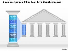 0914 Business Plan Business Temple Pillar Text Info Graphic Image Powerpoint Presentation Template