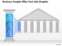 0914 Business Plan Business Temple Pillar Text Info Graphic Powerpoint Presentation Template