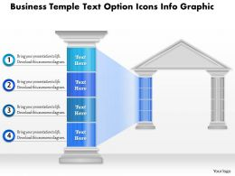 0914 Business Plan Business Temple Text Option Icons Info Graphic Powerpoint Presentation Template