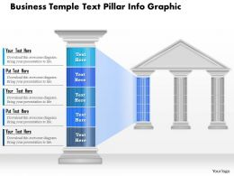 0914 Business Plan Business Temple Text Pillar Info Graphic Powerpoint Presentation Template