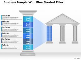 0914 Business Plan Business Temple With Blue Shaded Pillar Powerpoint Presentation Template