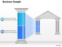 0914_business_plan_business_temple_with_highlighted_pillar_powerpoint_presentation_template_Slide01