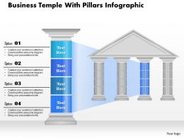 0914 Business Plan Business Temple With Pillars Infographic Powerpoint Presentation Template