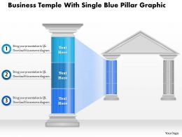0914 Business Plan Business Temple With Single Blue Pillar Graphic Powerpoint Presentation Template