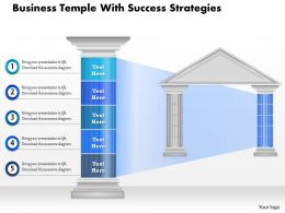 0914 Business Plan Business Temple With Success Strategies Powerpoint Presentation Template