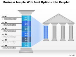 0914 Business Plan Business Temple With Text Options Info Graphic Powerpoint Presentation Template