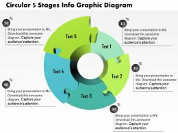 0914 Business Plan Circular 5 Stages Info Graphic Diagram Powerpoint Presentation Template