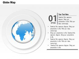 0914 Business Plan Circular Disks With Globe In Center PowerPoint Presentation Template
