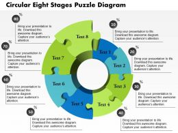 0914 Business Plan Circular Eight Stages Puzzle Diagram Powerpoint Template