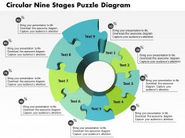 0914 Business Plan Circular Nine Stages Puzzle Diagram Powerpoint Template