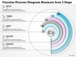 0914 Business Plan Circular Process Diagram Business Icon 5 Steps Powerpoint Template