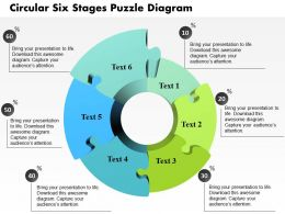 0914 Business Plan Circular Six Stages Puzzle Diagram Powerpoint Template