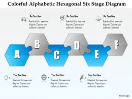 0914 Business Plan Colorful Alphabetic Hexagonal Six Stage Diagram Powerpoint Presentation Template