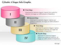 0914 Business Plan Cylinder 4 Stages Info Graphic Powerpoint Presentation Template