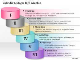 0914 Business Plan Cylinder 6 Stages Info Graphic Powerpoint Presentation Template