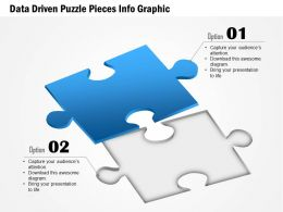 0914 Business Plan Data Driven Puzzle Pieces Info Graphic Powerpoint Presentation Template