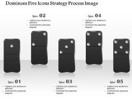 0914 Business Plan Dominoes Five Icons Strategy Process Image Powerpoint Template
