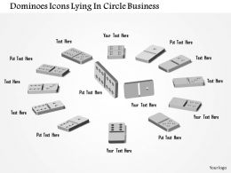 0914 Business Plan Dominoes Icons Lying In Circle Business Powerpoint Template