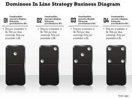 0914 Business Plan Dominoes In Line Strategy Business Diagram Powerpoint Template
