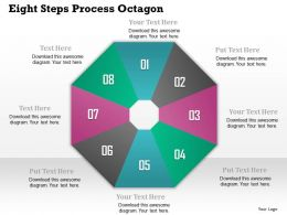 0914 Business Plan Eight Steps Process Octagon Powerpoint Template